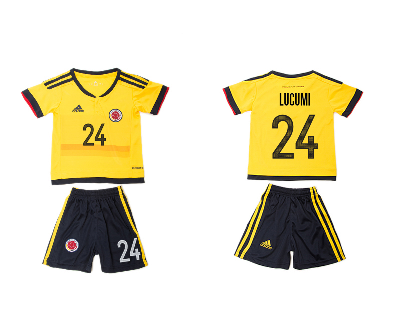 2016-17 Colombia 24 LUCUMI Home Youth Jersey