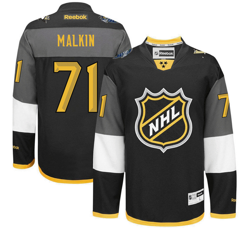 Penguins 71 Evgeni Malkin Black 2016 All-Star Premier Jersey