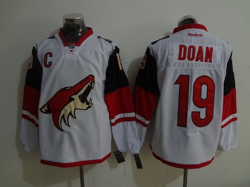 Coyotes 19 Shane Doan White Reebok Jersey