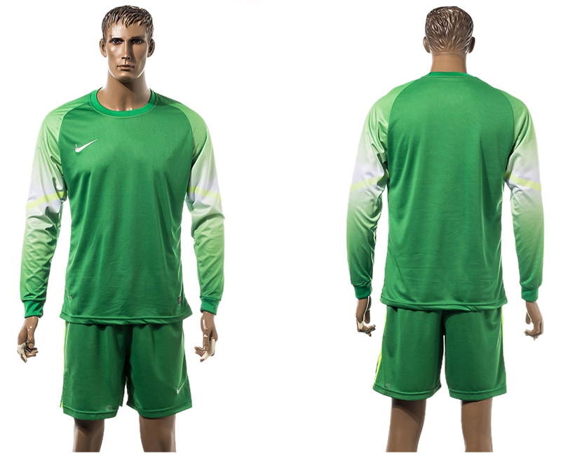 2015-16 Barcelona Goalkeeper Long Sleeve Soccer Jersey