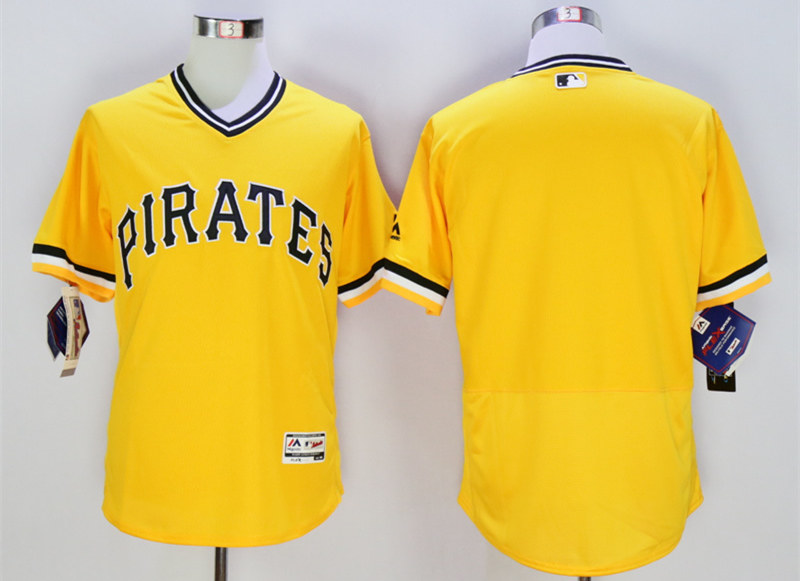 Pirates Blank Gold Flexbase Jersey