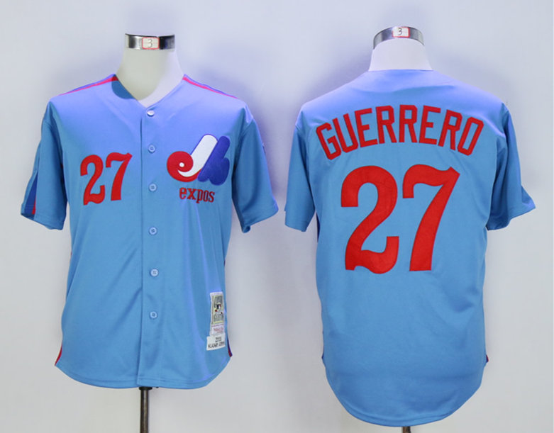 Expos 27 Vladimir Guerrero Light Blue 2000 Throwback Jersey