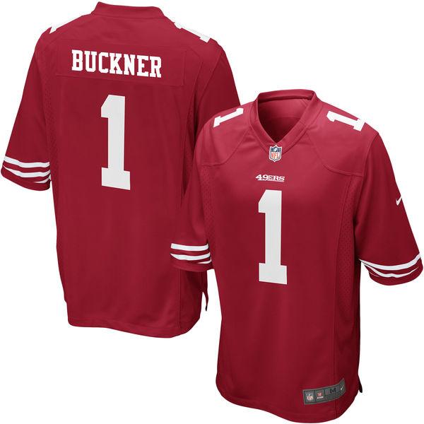 Nike 49ers 1 DeForest Buckner Red 2016 Draft Pick Elite Jersey