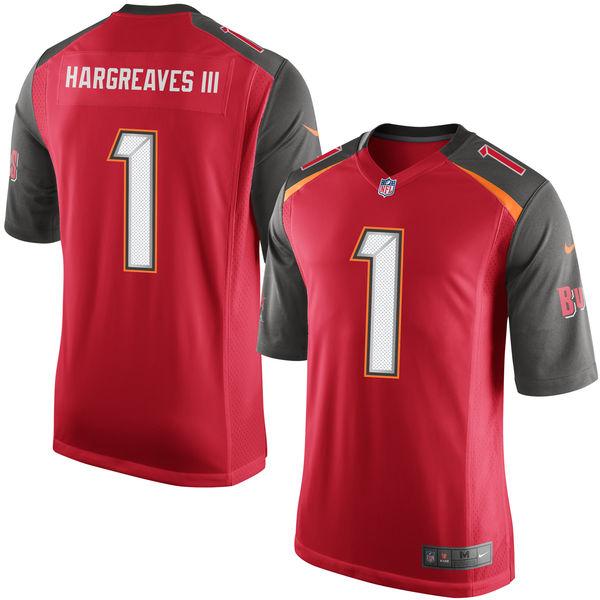 Nike Buccaneers 1 Vernon Hargreaves III Red 2016 Draft Pick Elite Jersey