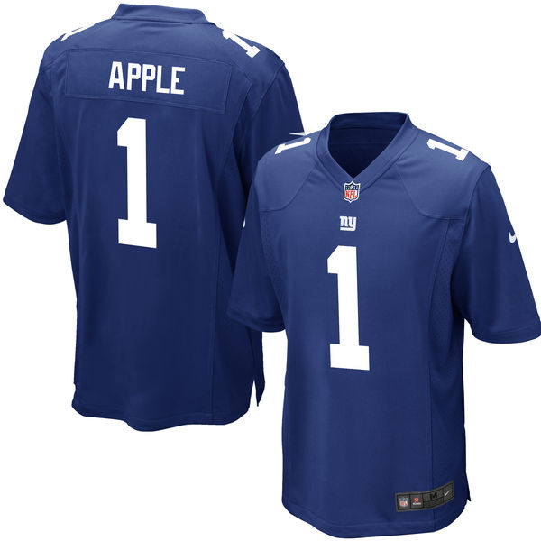 Nike Giants 1 Eli Apple Royal 2016 Draft Pick Elite Jersey