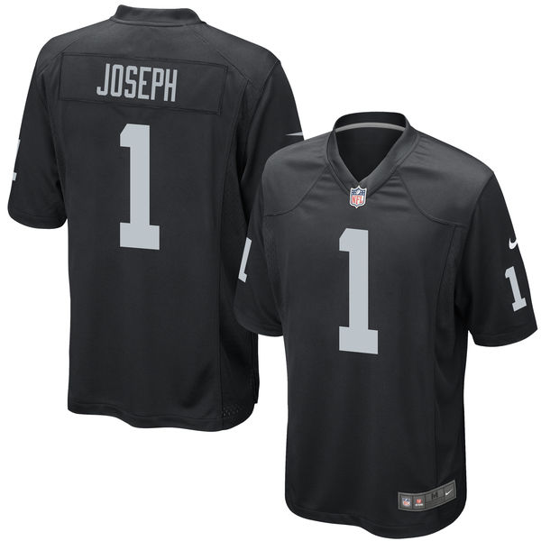 Nike Raiders 1 Karl Joseph Black 2016 Draft Pick Elite Jersey