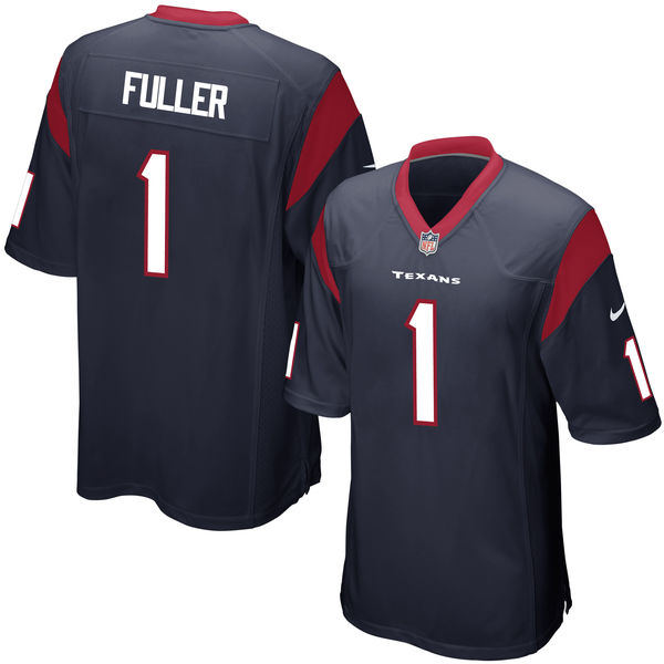 Nike Texans 1 Will Fuller Navy 2016 Draft Pick Elite Jersey