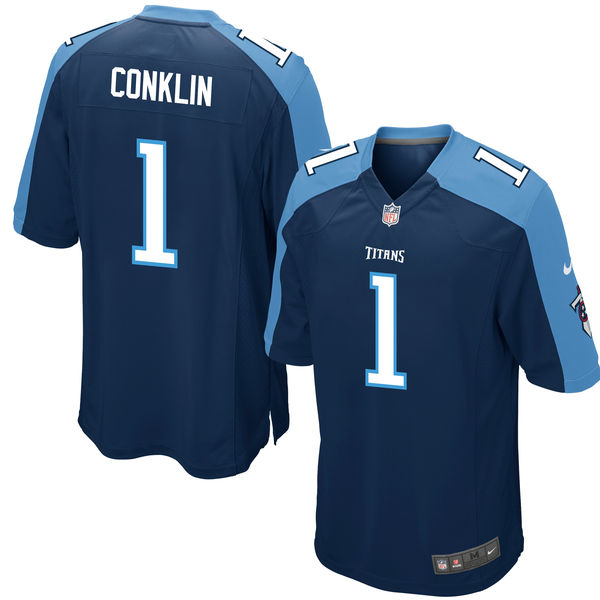 Nike Titans 1 Jack Conklin Navy 2016 Draft Pick Elite Jersey