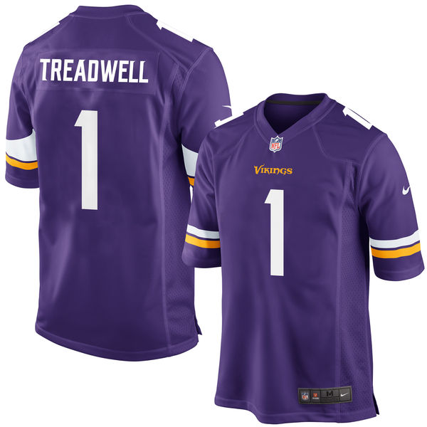 Nike Vikings 1 Laquon Treadwell Purple 2016 Draft Pick Elite Jersey