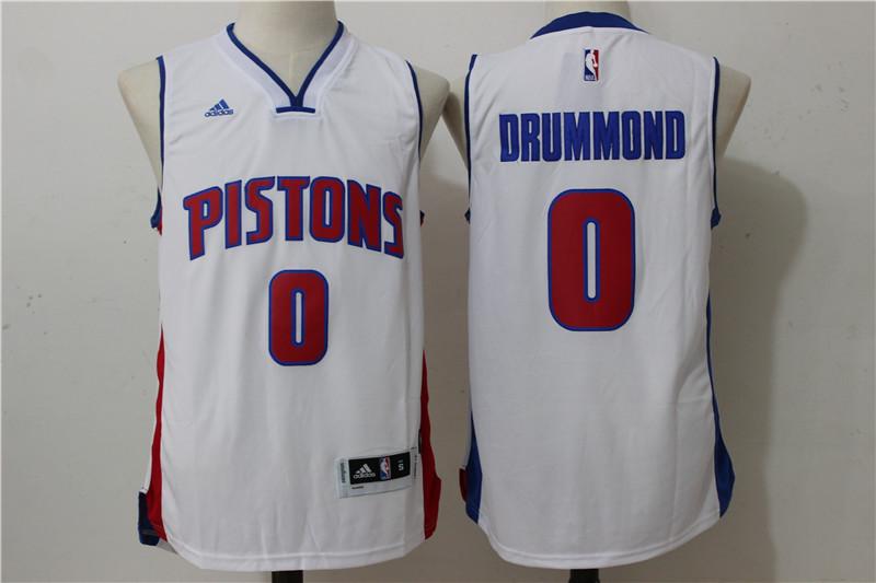 Pistons 0 Andre Drummond White Swingman Jersey
