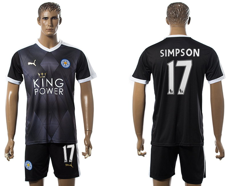 2015-16 Leicester City 17 SIMPSON Away Soccer Jersey