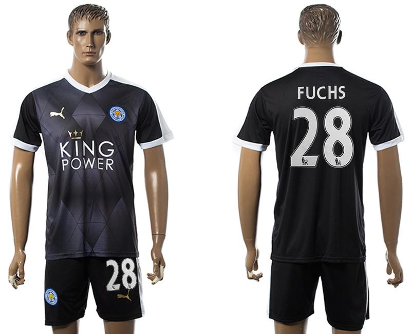 2015-16 Leicester City 28 FUCHS Away Soccer Jersey