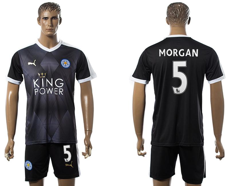 2015-16 Leicester City 5 MORGAN Away Soccer Jersey