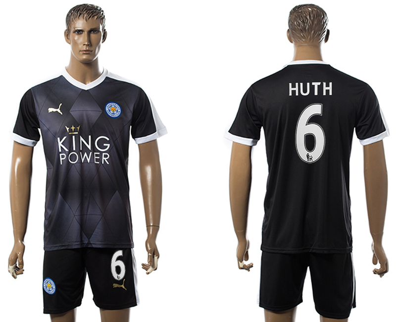 2015-16 Leicester City HUTH Away Soccer Jersey