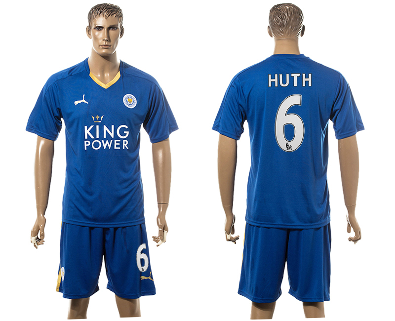 2015-16 Leicester City HUTH Home Soccer Jersey