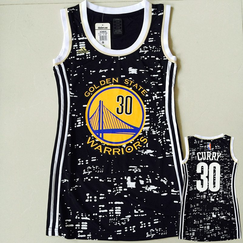 Warriors 30 Stephen Curry Black City Luminous Women Jersey