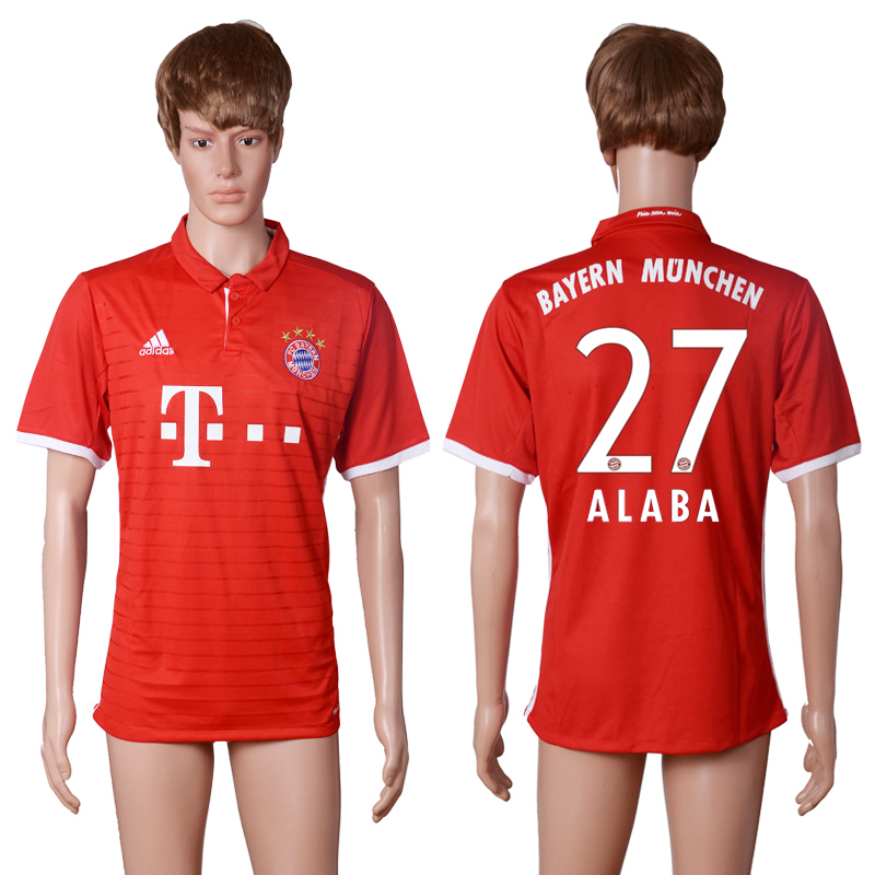 2016-17 Bayern Munich 27 ALABA Home Thailand Soccer Jersey