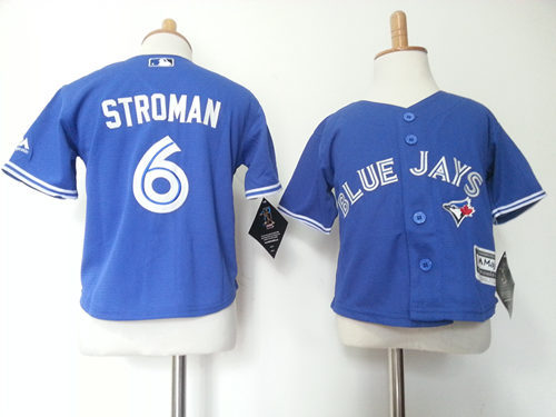 Blue Jays 6 Marcus Stroman Blue Toddler New Cool Base Jersey