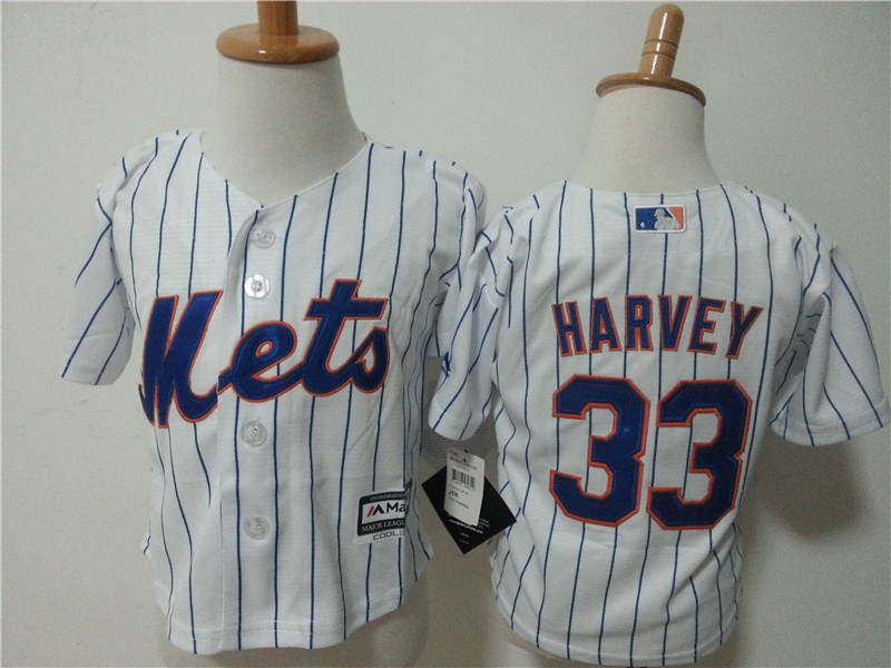 Mets 33 Matt Harvey Toddler New Cool Base Jersey