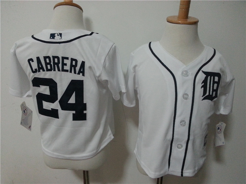 Tigers 24 Miguel Cabrera Toddler New Cool Base Jersey