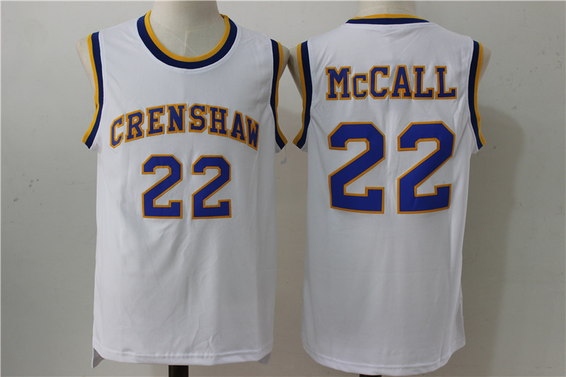 Crenshaw 22 McCall White Stitched Movie Jersey
