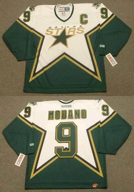 Stars 9 Mike Modano White CCM Jersey