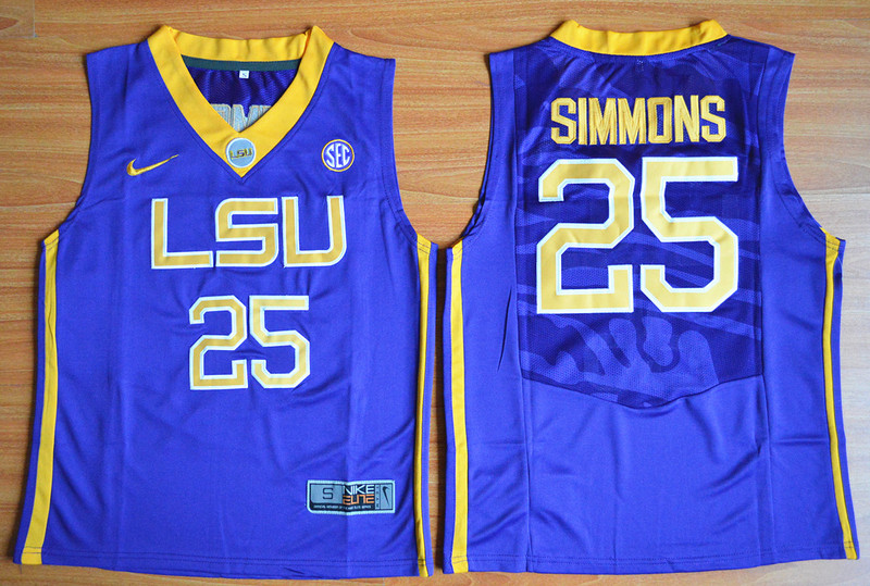 LSU Tigers 25 Ben Simmons Purple Youth College Basketball Jersey