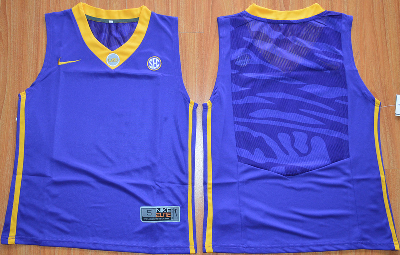 LSU Tigers Blank Purple Youth College Basketball Jersey