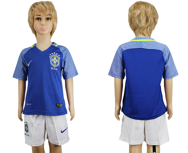Brazil Away Youth 2016 Copa America Centenario Soccer Jersey