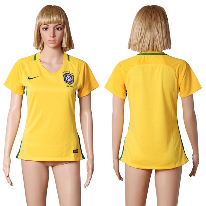 Brazil Home Women 2016 Copa America Centenario Soccer Jersey