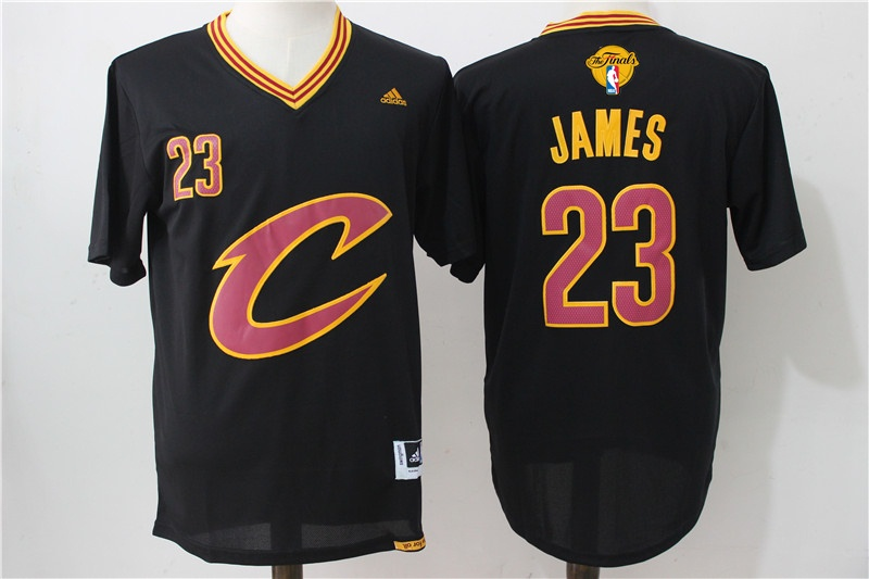 Cavaliers 23 LeBron James Black Pride 2016 NBA Finals Swingman Jersey