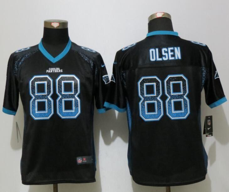 Nike Panthers 88 Greg Olsen Black Women Drift Fashion Jersey