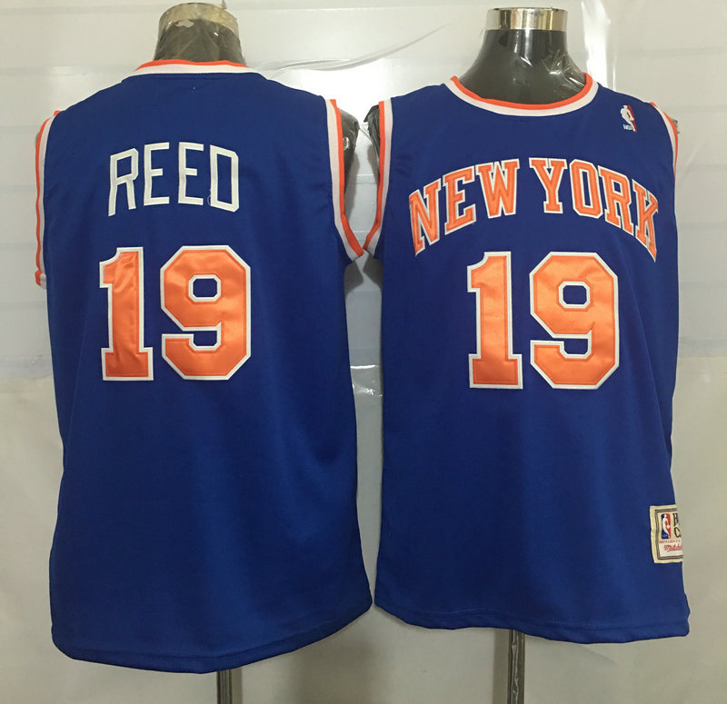 Knicks 19 Willis Reed Blue Hardwood Classics Swingman Jersey