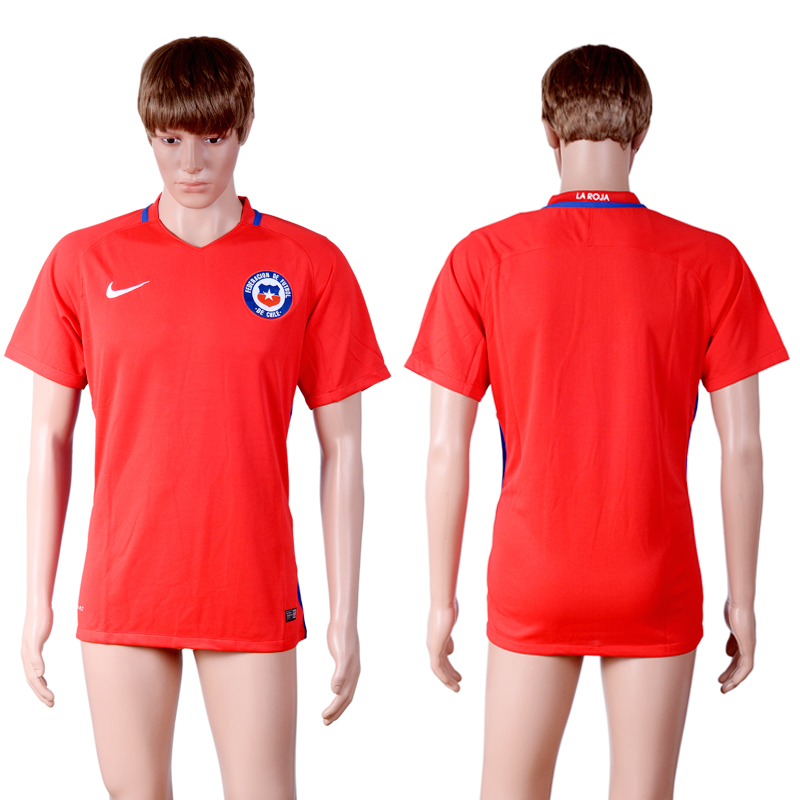 2016-17 Chile Home Thailand Soccer Jersey
