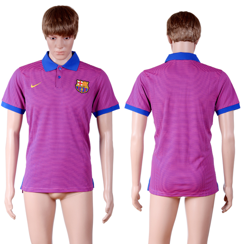 Barcelona Purple Men's Polo Shirt