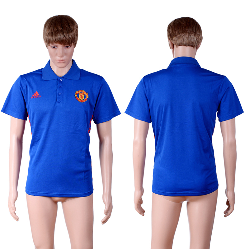 Manchester United Blue Men's Polo Shirt