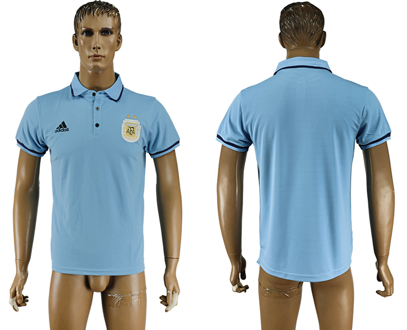 2016-17 Argentina Blue Soccer Polo Shirt