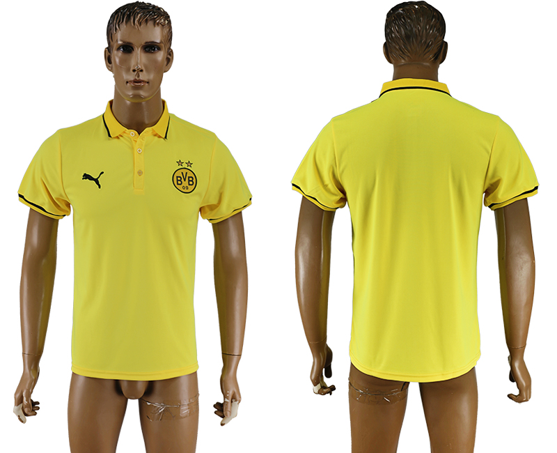 2016-17 Dortmund Yellow Soccer Polo Shirt
