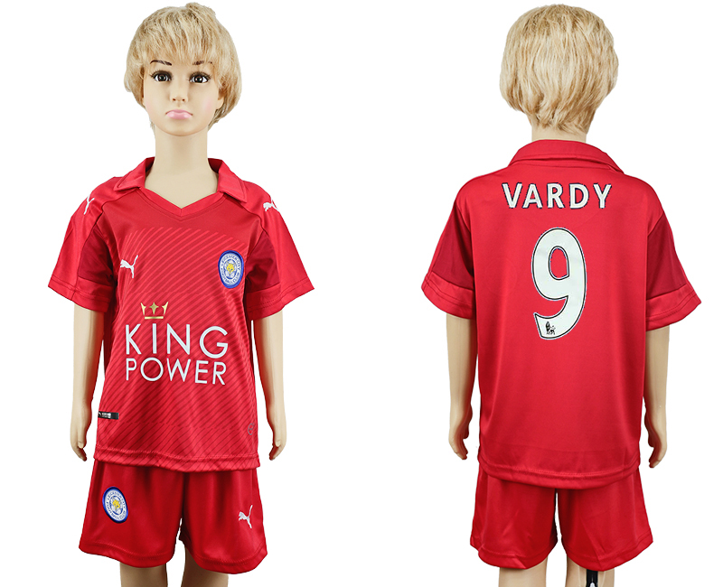 2016-17 Leicester City 9 VARDY Away Youth Soccer Jersey