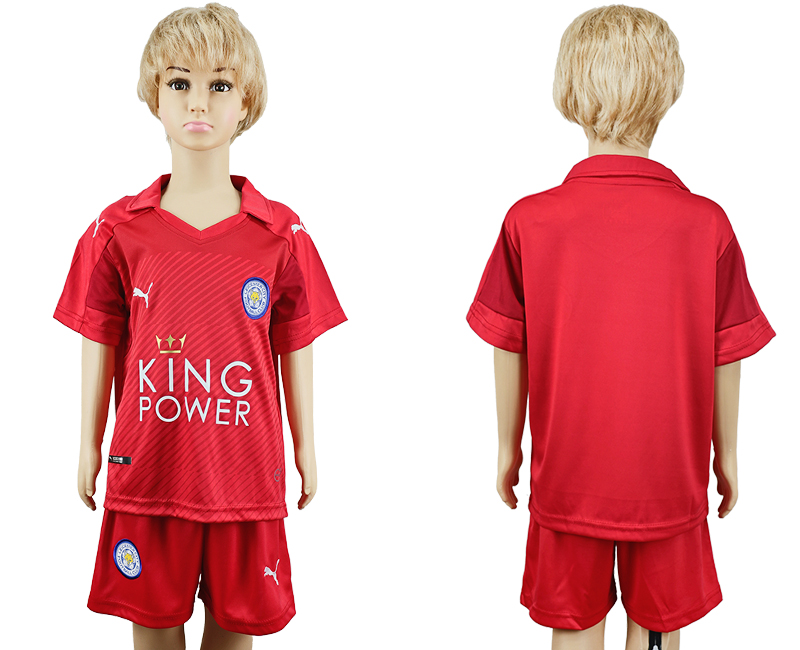2016-17 Leicester City Away Youth Soccer Jersey