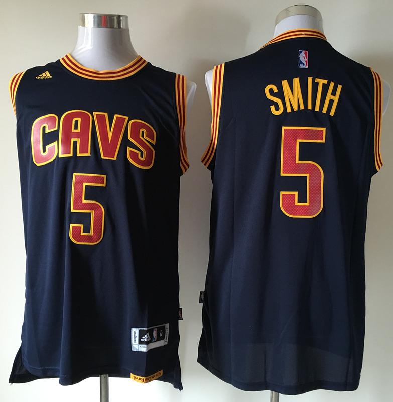 Cavaliers 5 J.R. Smith Navy Swingman Jersey