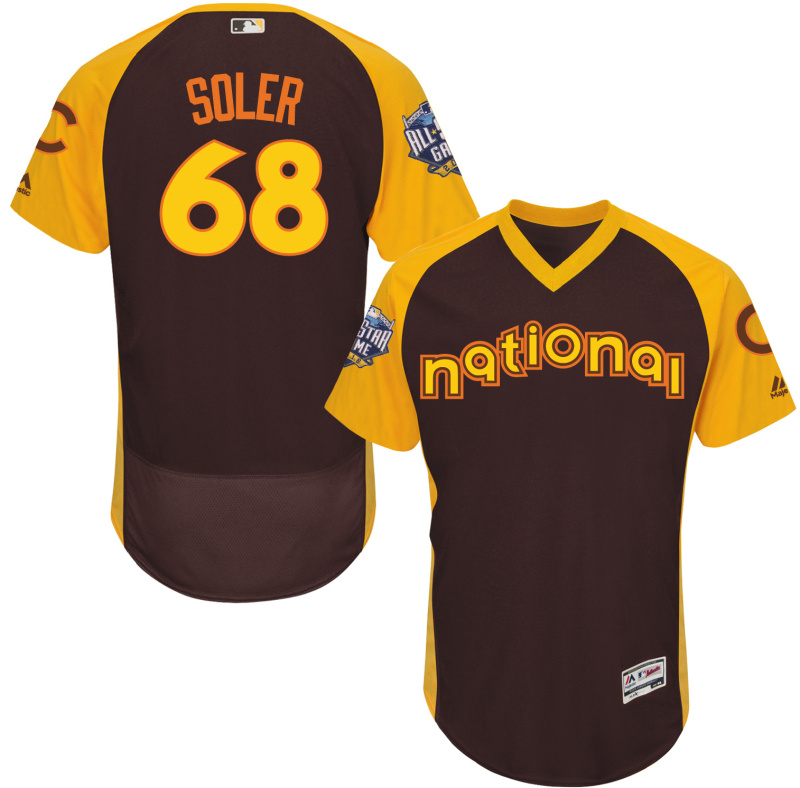 Mets 68 Jorge Soler Brown 2016 All-Star Game Cool Base Batting Practice Player Jersey