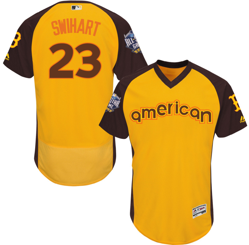 Red Sox 23 Blake Swihart Yellow 2016 All-Star Game Cool Base Batting Practice Player Jersey