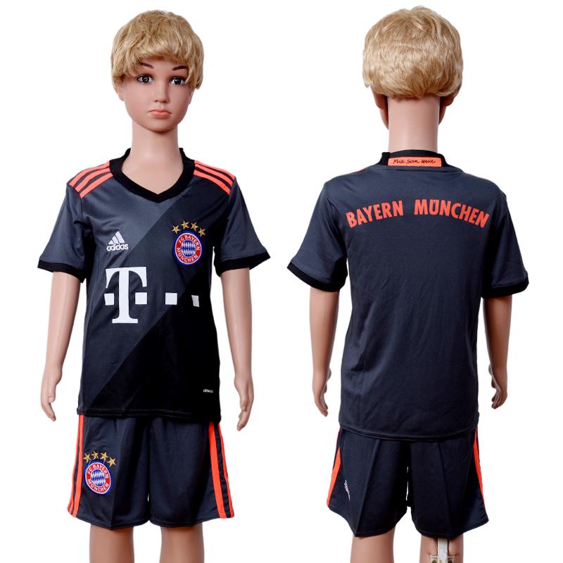 2016-17 Bayern Munich Away Youth Soccer Jersey