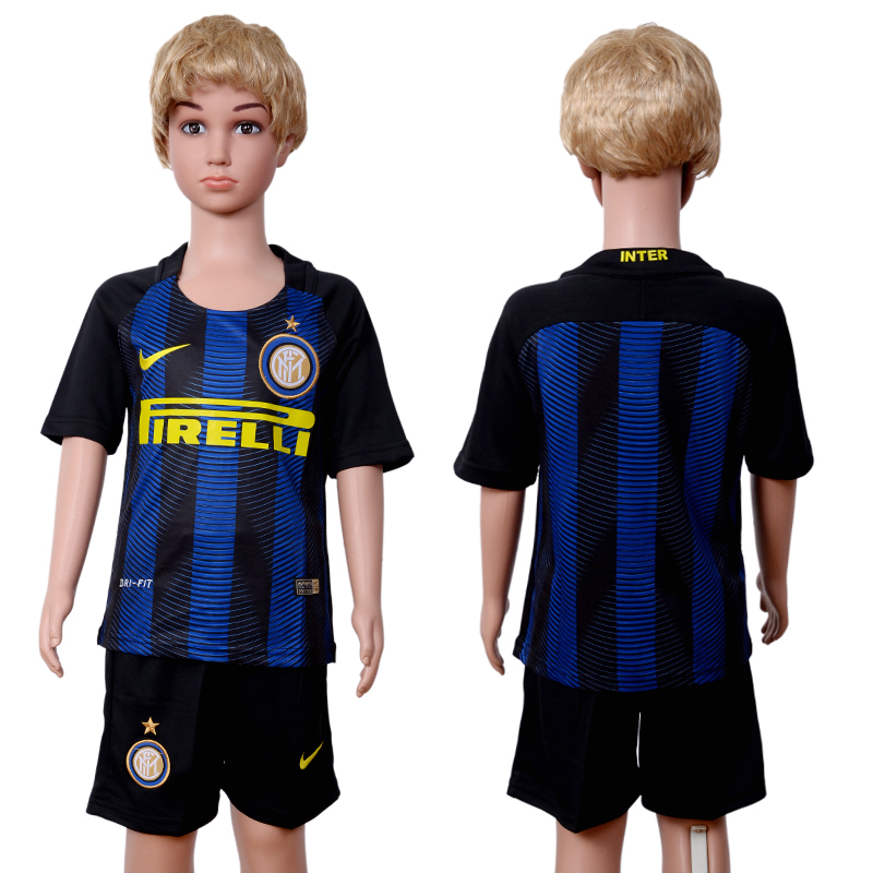 2016-17 Inter Milan Home Youth Soccer Jersey