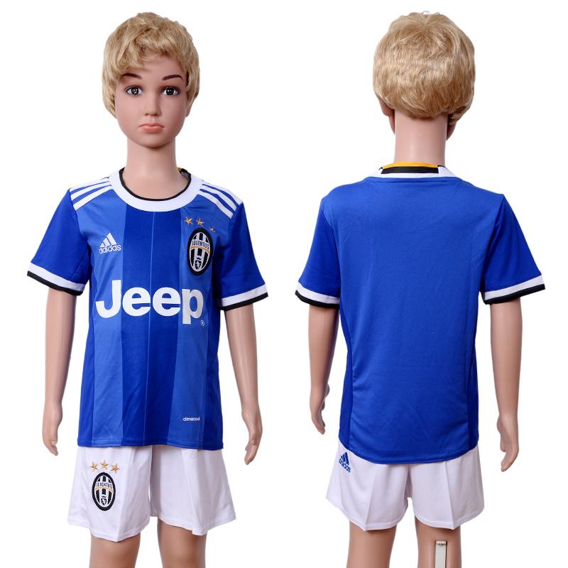 2016-17 Juventus Away Youth Soccer Jersey