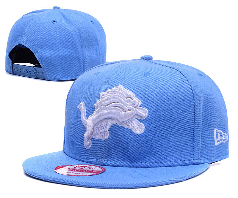 Lions Team Logo Blue Adjustable Hat GS