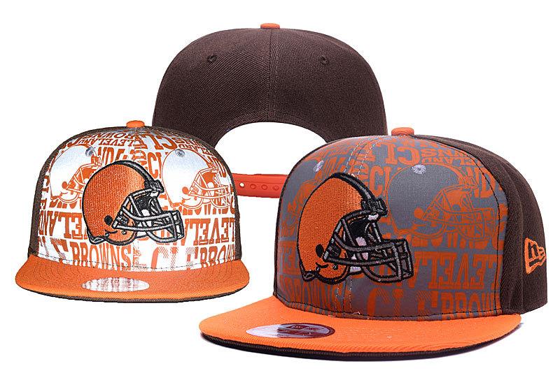 Browns Team Logo Brown Reflective Adjustable Hat yd