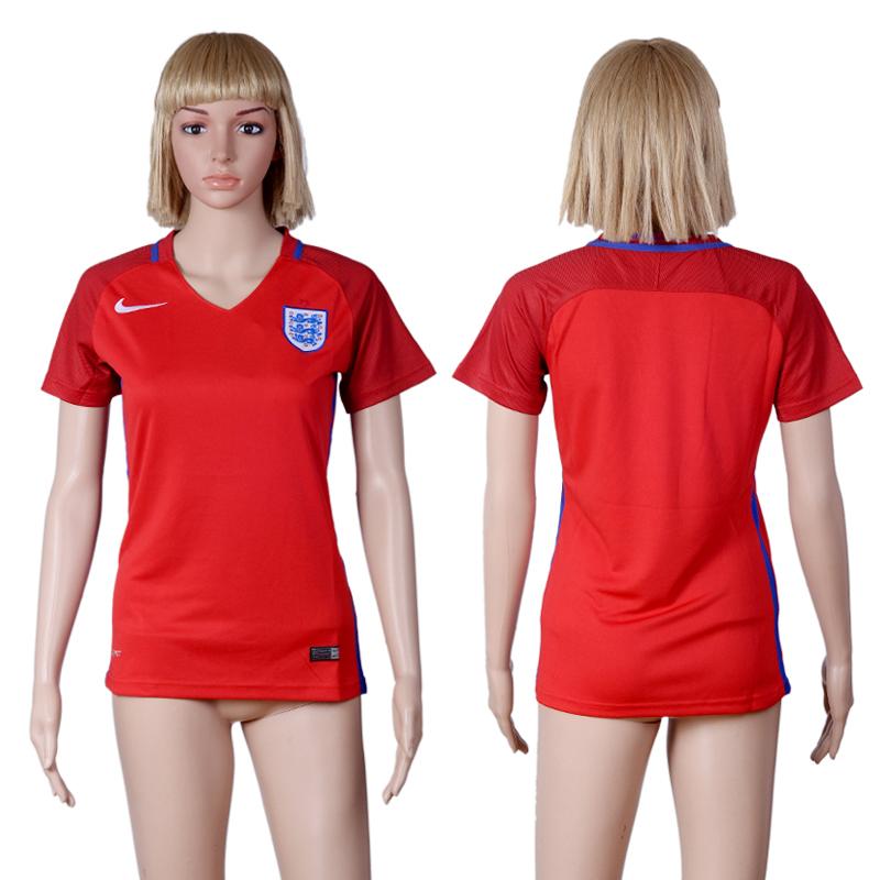 England Away Women UEFA Euro 2016 Soccer Jersey