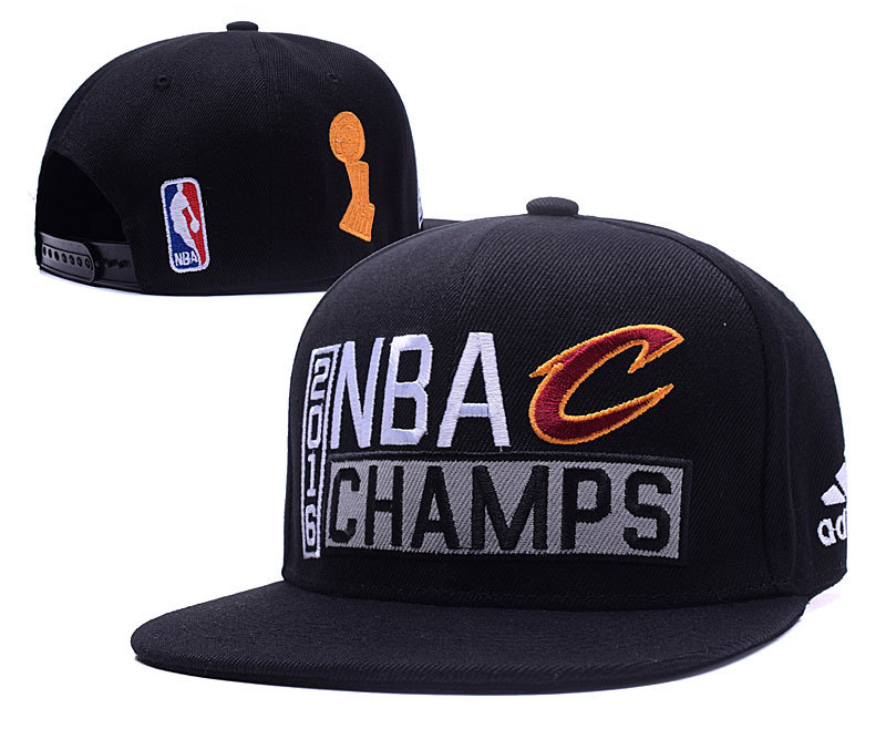 Cavaliers Black 2016 NBA Finals Champions Locker Room Snapback Adjustable Hat XDF